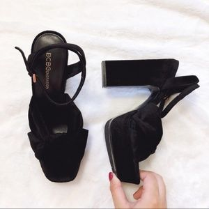 BCBGeneration Black Chiara Dress High Heel Sandal